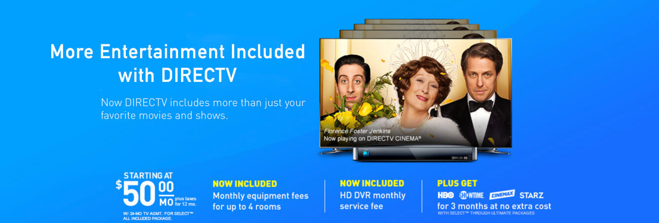 Premium Entertainment All at One Place When Your Have DIRECTV's